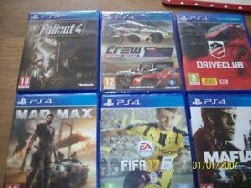 PS4 GAMES X 6