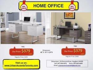 HOME OFFICE FURNITURE. BRAND NEW IN BOX. DESKS, OFFICE CHAIRS, BOOKSHELVES ON SALE.