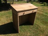 Pine Lectern with drawer