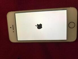 iPhone 5s 16gb on 02 rose gold