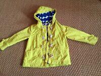 Mini boden yellow jacket/coat 4-5