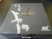 MONT BLANC 14k gold fountain pen. Signed by Leonard Bernstein.