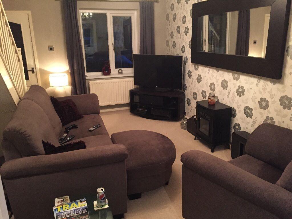Ikea tidafors sofa suite 3 piece 1 x 3 seater 1 for Furniture 3 piece suites