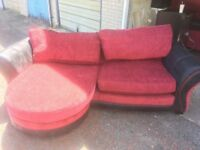 2 X red dfs sofas. Open to offers!