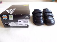 boys school trainers, Adidas, size 8, excellent condition.