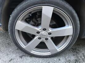 """18"""" 5x108 alloy wheels and tryed"""