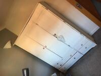 3 compartment wardrobe with 4 drawers