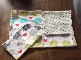 Cot bed/toddler bed bundle