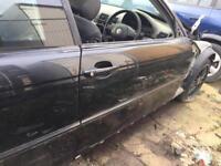 BMW E46 COUPE CABRIO DRIVER DOOR BLACK