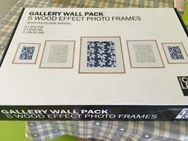 Set of five wooden frames New