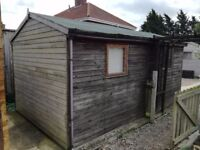 Timber shed / Workshop / Garage approx 14' x 7'