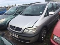 2000 Opel Zafira, 1.6 Petrol, Breaking for parts only, All parts available