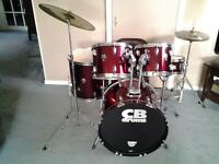 Great Condition 5 pc CB Drum Kit
