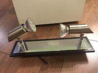 2 x Cotterell & Co Seville 2 Light Chrome/Wood Spotlight
