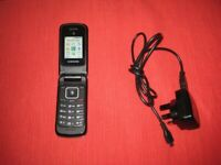 Quality Samsung Basic Pay As You Go Mobile Flip Top Phone. Model SGH A157V.