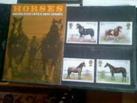 british post office mint stamps of horses