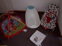 Baby bouncer chair bath playmat changing mat Mothercare Mamas & Papas bundle