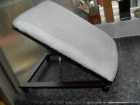 FOOT REST LAMBS WOOL COVER ADJUSTABLE