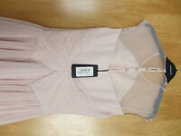 Brand new with tags Ted Baker Trixxy Nude Pleated Bow Dress - Size 1 (UK8)