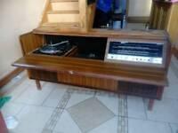 Ferguson model no 3361 vintage retro radio and record deck