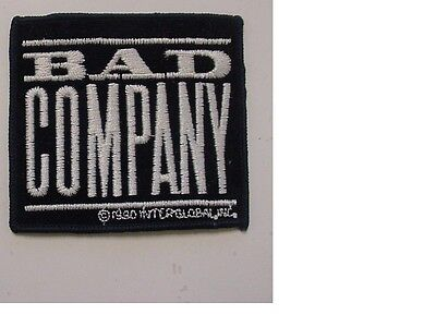 "BAD COMPANY VINTAGE IRON PATCH 1990  HEAVY ROCK  3.25""X3""-LICENSED"