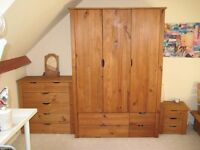 Nordic-Wardrobe, Bedside Cabinet, Chest of Drawers & Bed