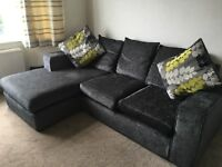 Charcoal corner sofa DFS, less than 2 years old!