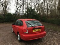 KIA RIO 1.3 PETROL 03 REG MOT JUNE 2017 ONE LADY OWNER FROM NEW
