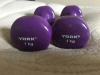 York Fitness - 1kg weights