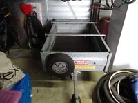 Wessex Trailers, camping trailer, in very good order with hinged back and stainless roof bars