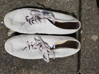 Grey Fred Perry casual shoes