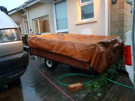6 x 4 wooden sided trailer.