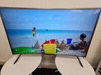 Samsung 49 Inch Curved 4k Ultra HD HDR TV (Model UE49NU7300)!!!