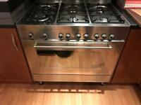 Double oven and six hob burner - gas
