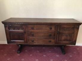 Old Charm 1970's Solid Oak Sideboard in Mid Brown