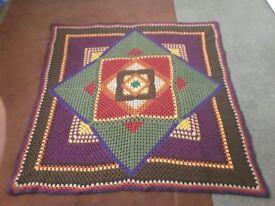 Handcrafted Crochet Blanket.