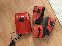 Hilti charger and baterry