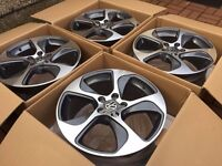 "4 x NEW 18"" VW AUDI MK7 STYLE ALLOY WHEELS 5x112 5 112 POLISHED VW golf mk5 mk6 audi a3 a5 w203"
