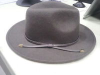 DUNE LONDON Grey Classy Stylish Posh Hat with a elegant Grey Leather Ribbon bow