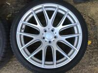 """19"""" 3sdm 5x112 staggered with new tyres"""