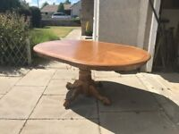 Large Solid Wood Dining Table **REDUCED PRICE FOR QUICK SALE**