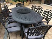 Glencrest/Katie Blake Aluminium 8 Seater Garden Furniture - Table + 8 armchairs - Good condition