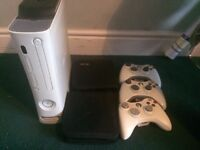 Xbox 360 120GB Console + 30 Games + 3 Controllers