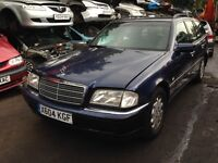 2000 Mercedes W202 C Class C200 2.0 Elegance Auto estate 366 azurite blue BREAKING FOR SPARES