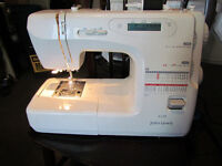 UNTESTED SEWING MACHINE JOHN LEWIS JL250,MISSING FOOT PEDAL