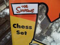 simpsons chess set