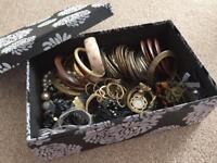Box of dress jewellery