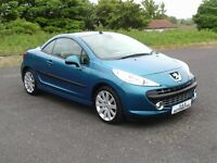 PEUGEOT 207CC 1.6 HDI GT 12 MONTHS M.O.T 6 MONTHS WARRANTY (FINANCE AVAILABLE)