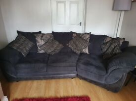 Large 3 / 4 seater sofa and chair