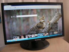 Lenovo 21.5 inch LED Backlit LCD Panel Monitor Computer Screen HDMI DP VGA USB PORTS